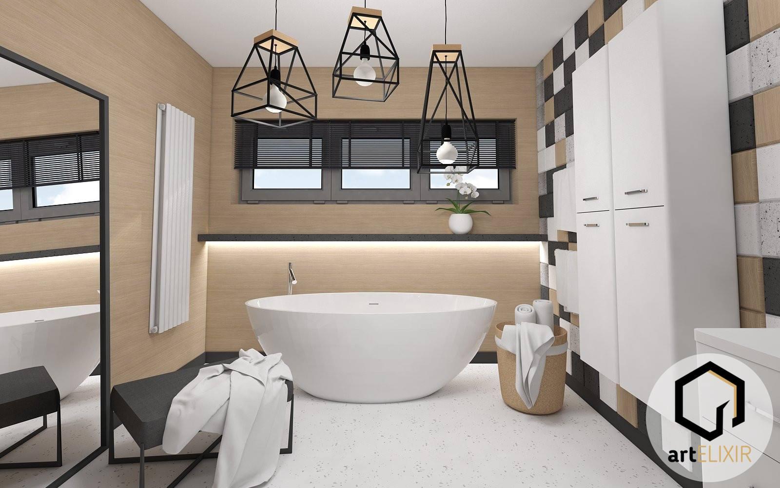 Betonowe Płytki 3d Decopanel W łazience Decopanel Panele Ażurowe