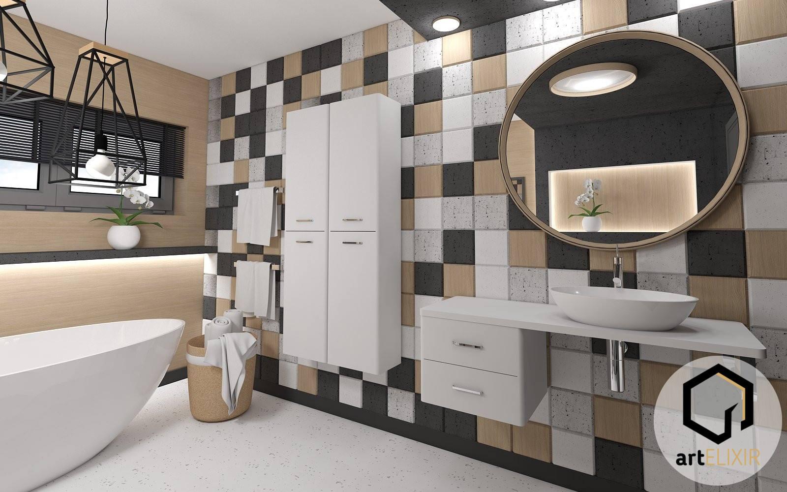 Betonowe Płytki 3d Decopanel W łazience Decopanel Panele