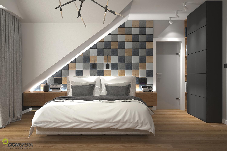 ściany Sypialni Decopanel Panele Ażurowe Płytki Betonowe 3d