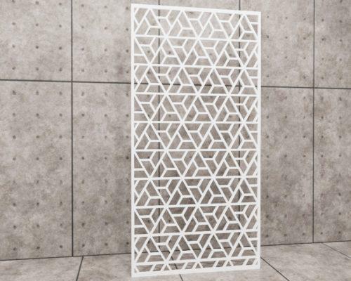 Geometric Illuminati, panel ażurowy geometryczny, panel ażurowy Decopanel