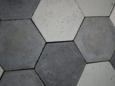 heksagony beton architektoniczny, panele 3d, decopanel