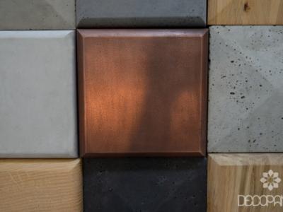 miedż i beton 3D, beton architektoniczny z metalem, producent betonu, płytki 3d, beton i metal, beton i drewno, decopanel, blog o betonie, betonowe wnetrze