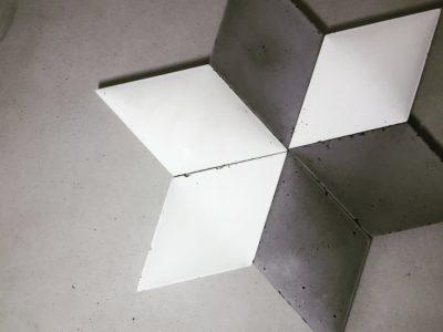 mozaika betonowa, beton 3D, płytki Betonowe 3d, romby betonowe, nowa kolekcja decopanel, nowe betonu decopanel, decopanel producent, concrete 3d
