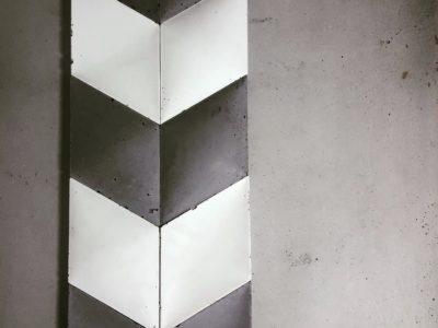 płytki betonowe 3d, płytki Decopanel, beton architektoniczny, płytki romby, beton na ścianę