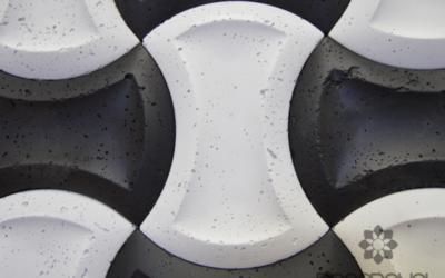 płytki czarno białe, core beton architektoniczny decopanel