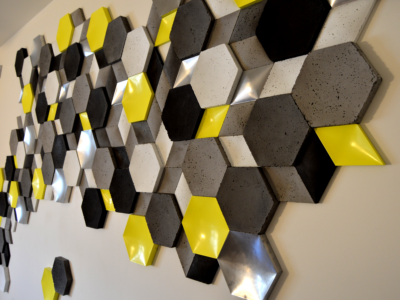 płytki z betonu, płytki 3d, lakierowane panele 3d, producent ścian 3d