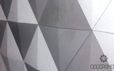 sail płytki trójkaty z betonu, decopanel, beton architektoniczny