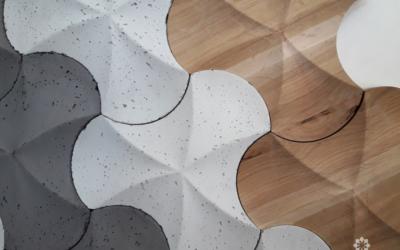 splash decopanel, 3d, betonowa płytka 3D, decopanel producent, producent betonu