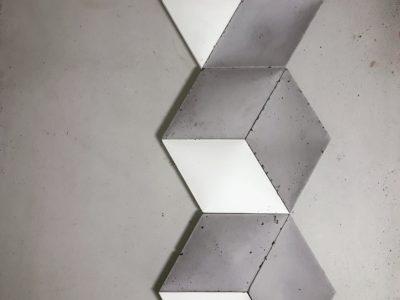 sześciokąty, heksafony, beton, beton dekoracyjny, beton wypukły, beton Decopanel