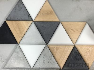 trójkąty betonowe i drewniane decopanel