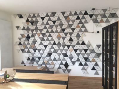 triangle betonowe, decopanel producent, beton architektoniczny, beton szary, beton na ścianę