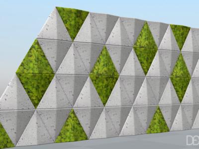 wizualizacja sail 3D mech i beton decopanel