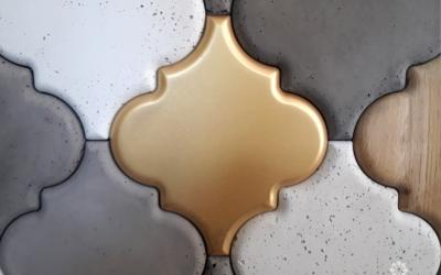 złote płytki decopanel, płytki 3d, betonowe płytki decopanel, inpire płytka